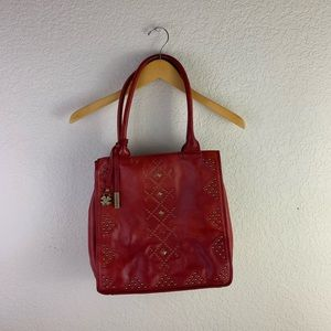 Lucky brand studded crossbody shoulder leather bag